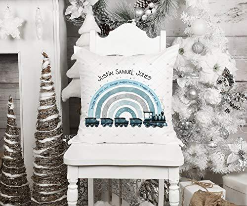 Funda de cojín para sofá cama para mamá y papá, cojín de tren para bebé, regalo personalizado para amigos, regalo de recuerdo para regalo de regalo de trom