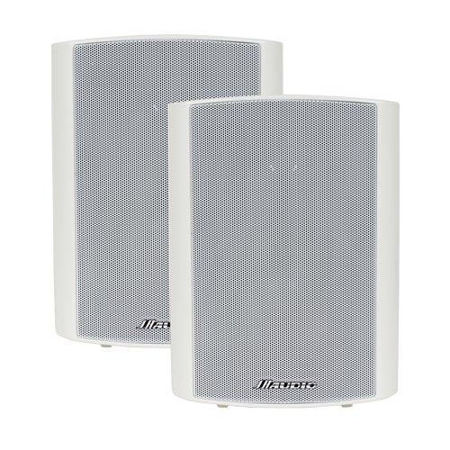 Best Buy! Intrasonic JA-T5W Indoor/Outdoor White Cube Speaker (Pair)