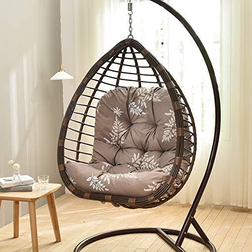 ALBEFY Cojín para silla de columpio, cojín para silla colgante, suave, extraíble y lavable, para patio, jardín, 86 x 120 cm