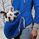 TJYXF Carrier de Mascotas Perros Gatos Amantes con Capucha Sudadera Sudaderas Jerseys Abrazo Bolsa Mujer Sudadera Bolsillo Animal con Capucha (Color : B, Size : 5-XXL)