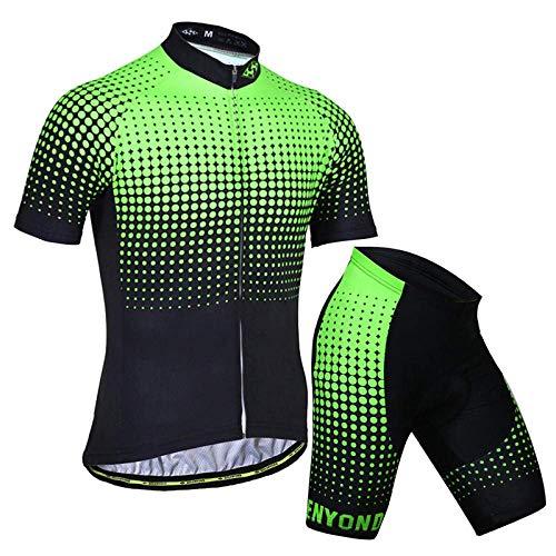 ZMHVOL Maillots de equitación para ciclismo al aire libre, traje de ciclismo de manga corta + pantalones cortos de ciclismo, adecuado para bicicleta de carretera MTB ZDWN (color: 8, talla: XL)