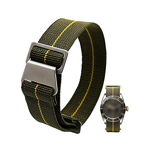 60's French Troops Parachute Special Elastic Nylon Watch Band Man's...