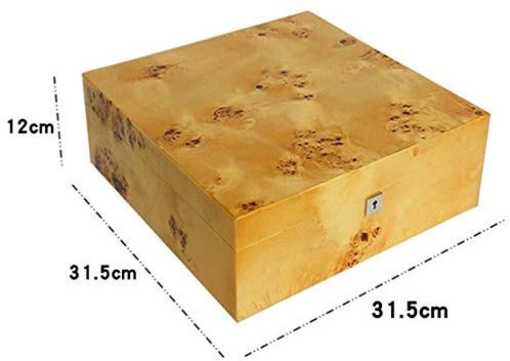 TNSBH De espesor Madera Sólida caja de reloj Organizador 15 Ranura de visualización Caja de reloj bloqueable regalo caja de almacenamiento de la fiesta de cumpleaños regalo Gabinete almacén de joyería: Amazon.es: