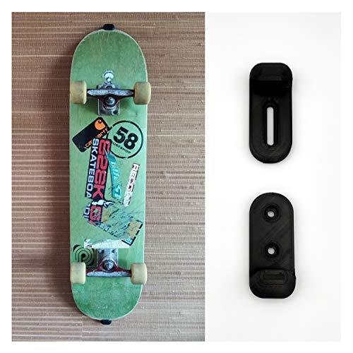 Skateboard Wandhalterung – Backside sichtbar - Professioneller 3D-Druck – Halterung zur Befestigung & Aufhängen auch für Penny Board an der Wand – Befestigung vertikal - mit Schrauben & Dübel