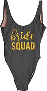 Squad Swim Bachelorette Swimsuit Bride Bathing Suit One Piece Bachelorette Bathing Suits