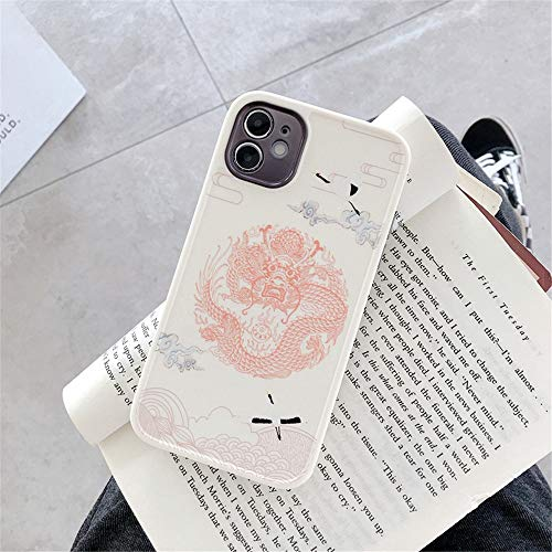 HNZZ Tmrtcgy Mysterious Myths Oriental Legends Chinese Dragon Totem Soft Silicon Funda para iPhone 12 11 Pro X XS MAX XR 8 7 Plus Tapa del teléfono (Color : 2, Size : Iphone12 Pro)