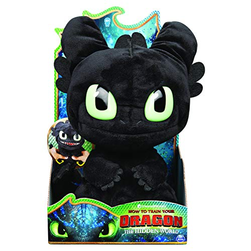Dreamworks Dragons, Squeeze & Roar Toothless 11' Plush with Sounds, for Kids Aged 4 & Up