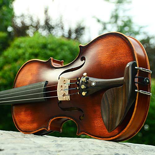 XTQDM Violon Anfänger Violine 4/4 Ahorn Violino 3/4 Antik matt Hochwertiges handgefertigtes Geigen Geigenetui Bogen Kolophonium, Dreiviertel Größe