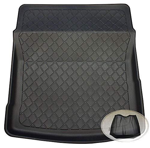 ZentimeX Z3109236 Gummierte Kofferraumwanne fahrzeugspezifisch + Klett-Organizer (Laderaumwanne, Kofferraummatte)