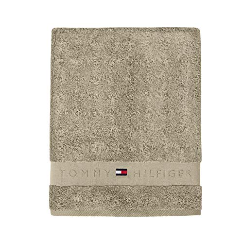 Tommy Hilfiger Badetuch TH Frotee Uni Serie Camel 100x150 cm