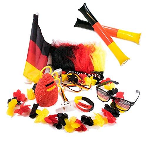 UMOI 15-teiliges Deutschland Fanartikel Set zur Weltmeisterschaft 2018 WM in Russland (Starter Set)