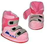 alles-meine.de GmbH Hausschuhe - als rosa Skischuhe - SUPERWARM - Gr. 21 - 22 - gefütterte Plüschhausschuhe / Boots / Hausstiefel / Hausschuh Stiefel warm Skischuh / für Kinder G..