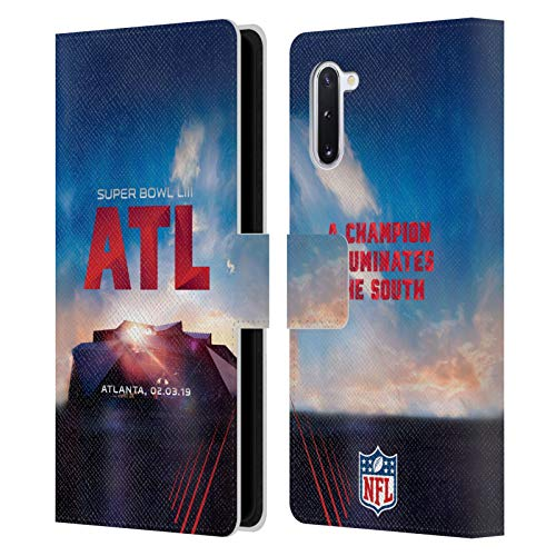 Officiële NFL Mercedes-Benz Stadion Atlanta 2019 Super Bowl LIII Lederen Book Portemonnee Cover Compatibel voor Samsung Galaxy Note10 / 5G