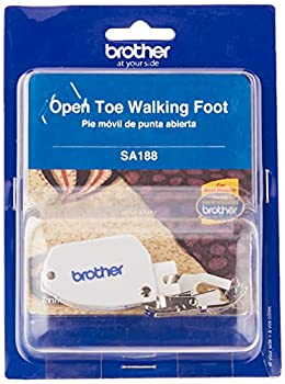 Brother Open Toe Walking Foot for Quilting and Sewing Multiple Layers SA188,SilverWhite