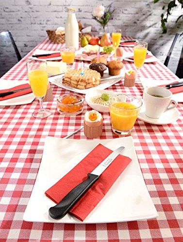 Rosenstein & Söhne Cuchillo para el pan: Cuchillo de desayuno con filo dentado fabricado en acero inoxidable cromado…