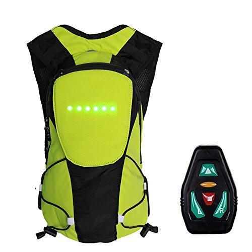 5L Zaino per ciclismo con indicatore di direzione a LED di sicurezza, Zaino per bici Outdoor Daypack sportivo con indicatore di direzione per ciclismo da strada per uomo donna