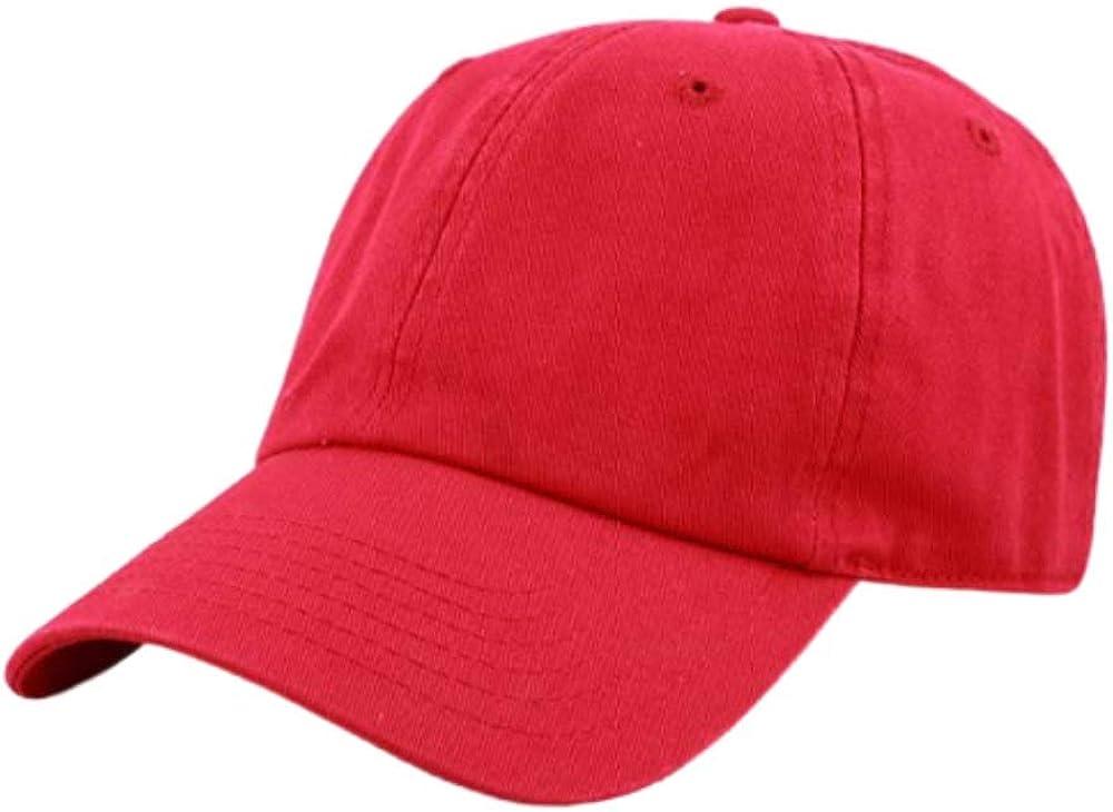 Unisex Fashion Blank Plain Hats Cap for Women & Men, Adjustable Baseball Dad Hat, Sports Hat 100% Cotton Classic Hat