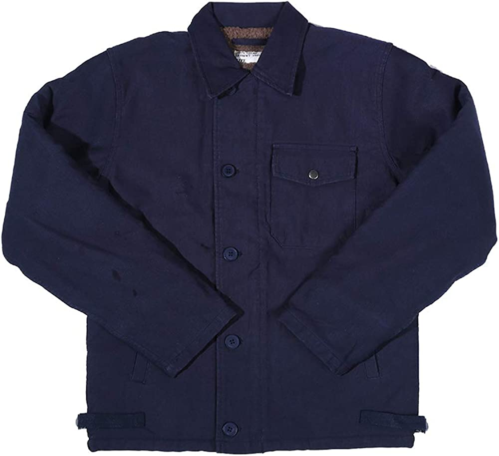 GFDHHNN A-2 Max 73% OFF Deck Jacket Navy Ranking TOP2 Men's Thick N-1 Co Suit