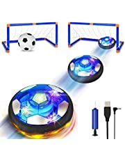 SUNNOW Balón Fútbol Flotant - Air Power Soccer Recargable Pelota Futbol con Soft Foam Bumpers y Luces LED Juguetes Aire Fútbol Juguete Balón de Fútbol para Niños Niñas Regalos Cumpleaños