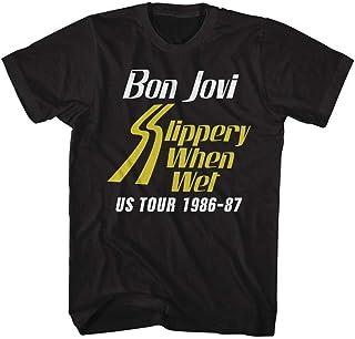 BON JOVI ボン・ジョヴィ (デビュー35周年記念) - SSW TOUR/バックプリントあり/Tシャツ/メンズ 【公式/オフィシャル】