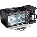ZHZHUANG Kitchen Toaster Oven 9L Microwave Oven, Convection Oven, Intelligent Temperature Control, Stainless Steel Interior and Case, Retro Look