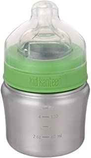 Klean Kanteen Kid Kanteen Wide Mouth Single Wall Stainless Steel Baby Bottle with Dust Cover