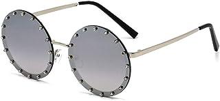 サングラス ファッション UV防止サングラスビートメタルトレンドサングラス猫の目サングラスドライブサングラス絶妙なサングラス夏のビーチサングラス (色 : 銀)