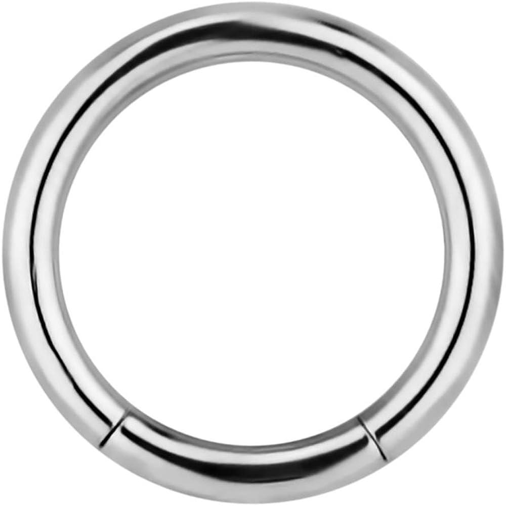 Forbidden Body Jewelry 14g 7/16 Inch Surgical Steel Segment Hoop Ring Circular Barbell