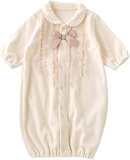(チャックルベビー) chuckle BABY スウィートガール チュール フリル ベロア 新生児ツーウェイオール アイボリー P5234E-00-11