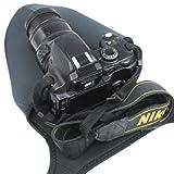 Funda de viaje para cámara, de neopreno, suave, protector para cámara réflex digital con objetivo, Nikon D3400, D3300, D3200, D3100, D3000, D5500, D5300, D5200, D5600, D7200, D7100, D7000, D810, D800, D750, D700, D610, D600, D300, D90, D80, D60, P900 y otros modelos de cámaras – tamaño grande L.