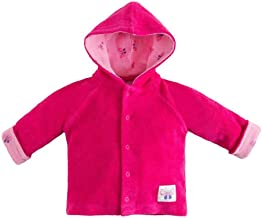 Under the Nile Organic Cotton Beetroot Baby Girl Terry Snap Front Hoodie