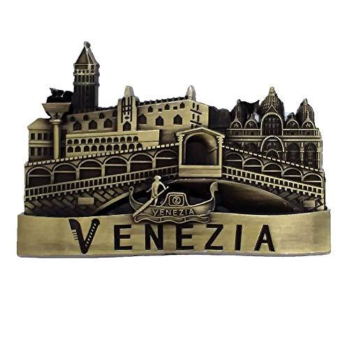 Venezia Italia 3D metallo magnete frigorifero viaggio souvenir regalo casa e cucina decorazione adesivo magnetico Venezia frigorifero magnete