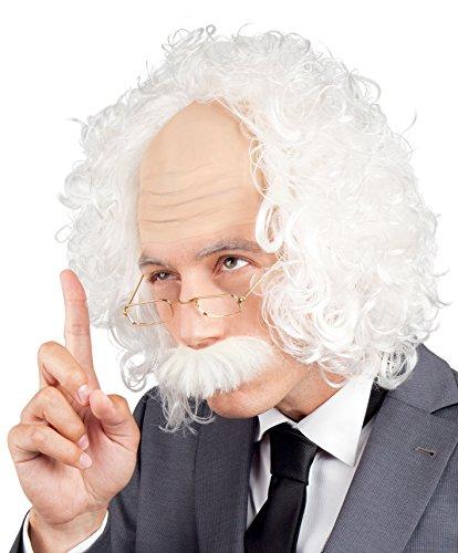 Boland 86358 - Perücke Professor mit Schnurrbart und Brille