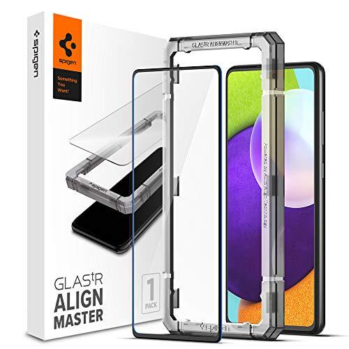 Spigen AlignMaster Vetro Temperato Compatibile con Samsung Galaxy A52 5G, Galaxy A52 4G, Galaxy A52s 5G, Kit di Installazione Incluso, Copertura Totale, Protezione Schermo