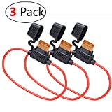 MCIGICM Inline Fuse Holder with 40A ATC Blade Fuse, 10 AWG, 3 Pack