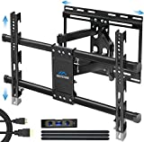 Full Motion Articulating TV Wall Mount Bracket with Sliding Design for 32-83 Inch TVs, Easy for TV Centering on Wall, TV Wall Mount Fits Most Smart OLED TVs - Easy Install & Levels After Mounting