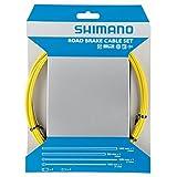 シマノ(SHIMANO) ロードPTFEブレーキレバー用ケーブルセット イエロー Y80098013