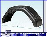 Kunststoff Schutzblech Kotflügel 220x750mm / 22x75 cm für Pkw Anhänger
