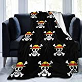 Soft Throw Blanket One-P-iece Anime Warm Fleece Blanket for Sofa Couch Living Room 60 × 50 Inches -4