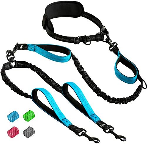 SparklyPets Hands Free Double Dog Leash Dual Dog Leash for Medium and Large Dogs Dog Leash for product image