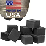 """40 Pack Standard Size Pot Feet for Outdoor Planters - Invisible Plant Risers for Small and Medium Sized Heavy Pots - 3/4"""" Elevators - Work Great On Patio and Deck Use - Made in USA"""