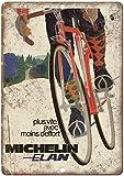 Nostalgisches Retro Blechschild Not Michelin Elan Fahrrad