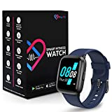 Pro-Fit Go VeryFitPro Smart Watch Activity Fitness Tracker Heart Rate Blood Oxygen Blood Pressure & Sleep Monitor Calorie Counter Pedometer Compatible with iPhone Samsung & Android (ID205U) (Blue)