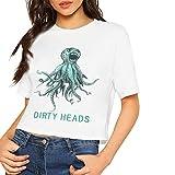 Photo de T-shirt à manches courtes pour femme avec imprimé Dirty Heads - Blanc - XL