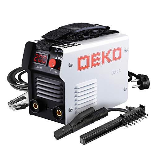 DEKO DKA Series IGBT Soldadora Eléctrica de Arco Inversor 220V MMA Soldadora para Trabajos de Soldadura y Trabajos Eléctricos.