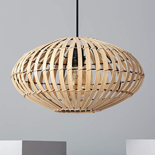 LEDKIA LIGHTING Lámpara Colgante Bambu Atamach 210x400x400 mm Natural E27 Casquillo Gordo...