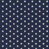 babrause® Baumwollstoff Sternchen Navy Blau Webware