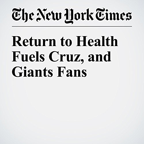 Return to Health Fuels Cruz, and Giants Fans cover art