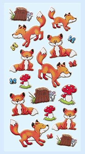 Softy-Sticker Füchse III