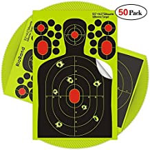 Ani Love Crab 50pack Shooting stickers Splatter Targets 9.5x14.5 inch Self Adhesive Paper Silhouette Reactive Target Stickers for Gun Rifle